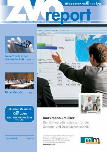 Neue Trends in der Galvanotechnik Seite 10 Ulmer Gespräch ... - ZVO