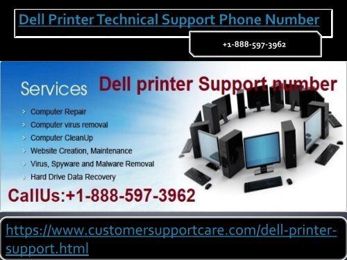 Dell Printer Tech Support Number +1-888-597-3962