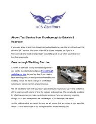 Crowborough's Leading Airport Taxi | Airport Car Services