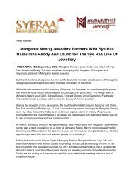 Mangatrai Neeraj Jewellers Partners With Sye Raa Narasimha Reddy And Launches The Sye Raa Line Of Jewellery