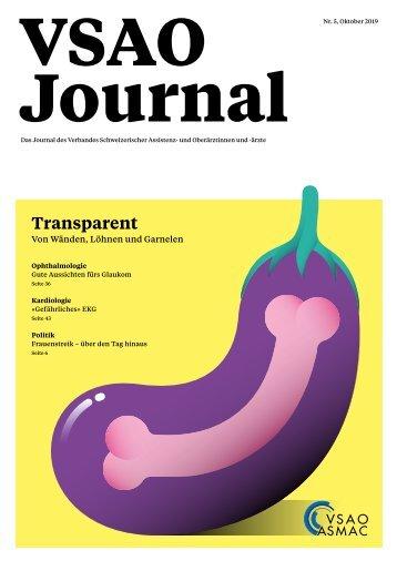 VSAO JOURNAL Nr. 5 - Oktober 2019