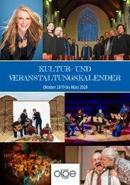 Kulturprogramm der Kreisstadt Olpe - Oktober 2019 bis März 2020