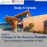 Study in Canada - Apply to College of the Rockies