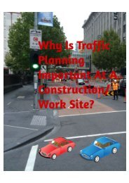 Why Is Traffic Planning Important At A Construction/Work Site?