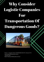 Why Consider Logistic Companies For Transportation Of Dangerous Goods?