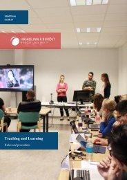 Handbook - Teaching and Learning