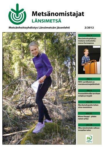 Länsimetsän jäsenlehti 2-2012.pdf - Metsänhoitoyhdistykset