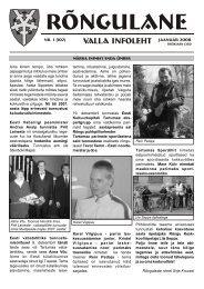 Jaanuar 2008 - Rõngu Vald
