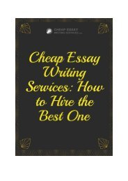 Cheap Essay Writing Services: How to Hire the Best One?