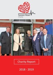 The Sussex Heart Charity 18-19 Report