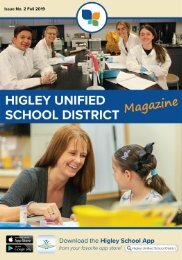 Higley Unified School District Magazine Fall 2019