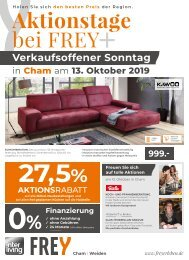 Interliving Frey - Vollsortiments Prospekt - Oktober 2019
