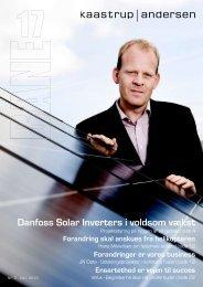 Danfoss Solar Inverters i voldsom vækst - kaastrup & andersen a/s