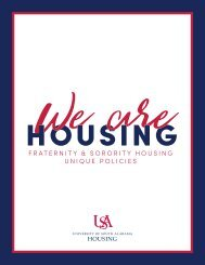 Fraternity and Sororities Unique Policies