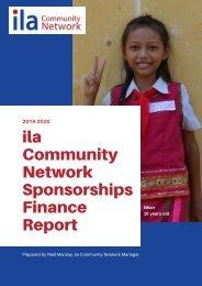 Sponsorships Finance Report 2019/20