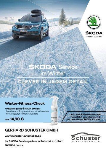 Schuster Automobile - Škoda Service im Winter