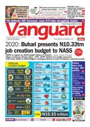 09102019 - 2020: Buhari presents N10.33trn job creation budget to NASS