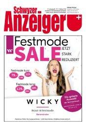 Schwyzer Anzeiger – Woche 41 – 11. Oktober 2019