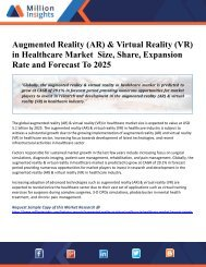 Augmented Reality (AR) & Virtual Reality (VR) in Healthcare Market  Size, Share, Expansion Rate and Forecast To 2025