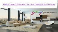 Godrej Lahari - Residential Project in Electronic City Bangalore