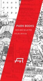 Flyer New and Selected Titles 2019/20 Park Books