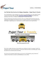 Taxi Services In Udaipur - Pujari Tour & Travels