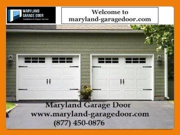 Garage Door Services Maryland