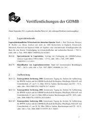 Veröffentlichungen der GDMB - Metall-web.de