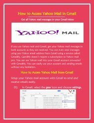 How To Access Yahoo Mail In Gmail?