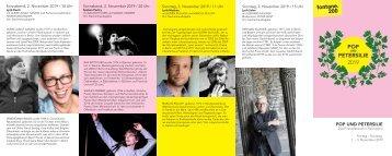 POP und PETERSILIE - Das Poesiefestival