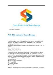 Updated CompTIA Network+ N10-007 Dumps