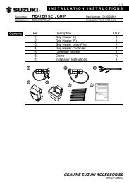 HEATER SET, GRIP INSTALLATION INSTRUCTIONS  DL650AL7 XAL7  57100-28840