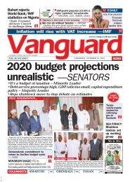 10102019 - 2020 budget projections unrealistic —SENATORS