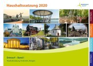 Haushaltsentwurf 2020 – Band I, Haushaltssatzung, Vorbericht, Anlagen