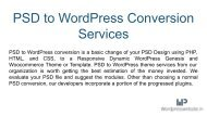 PSD to WordPress Conversion Services in India