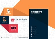 Asp.net Web Application Development Services | ManekTech
