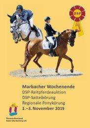Marbacher Wochenende - DSP-Reitpferdeauktion und DSP-Sattelkörung