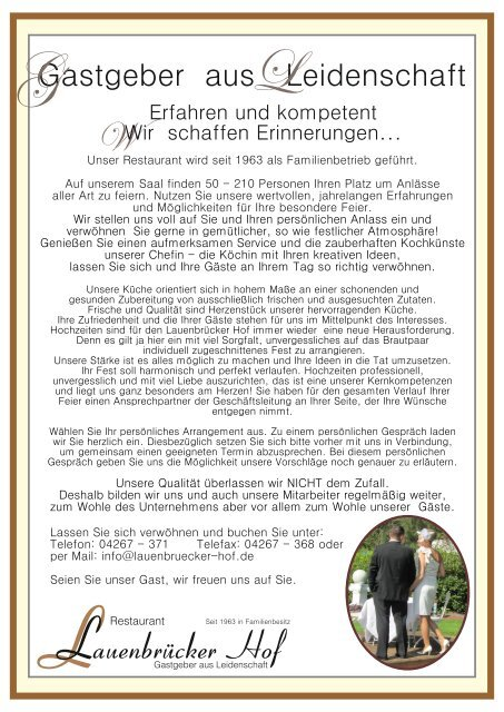 Lauenbrücker -Bankettmappe 2019
