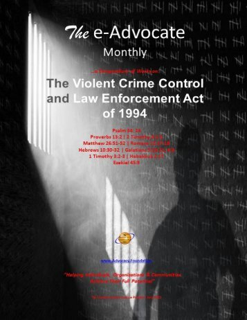 The Violent Crime and Law Enforcement Act of 1994