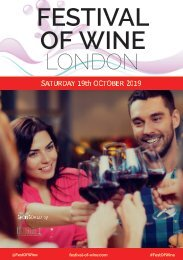London Festival of Wine 2019 | Wine Tasting Catalogue