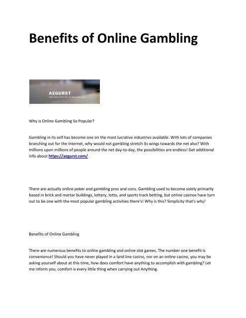 Pros and Cons of Gambling for Aussie Players