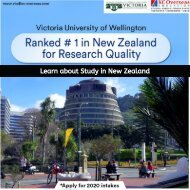 Want to study in New Zealand? Apply to Victoria University of Wellington