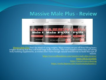 Massive Male Plus - No Side-Effects For Male Enchenment