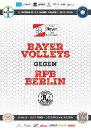 Spieltagsnews Nr. 3 gegen RPB Berlin