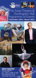 The Swan Theatre & Huntingdon Hall Programme of Events