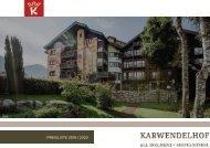 Preisliste 2019 | 2020 Hotel Karwendelhof