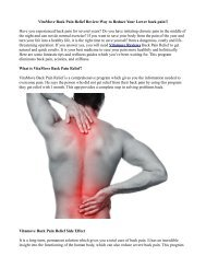 How does Vitamove Reviews Back Pain Relief Works?