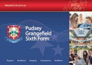 Pudsey Grangefield Sixth Form Prospectus 2019-20
