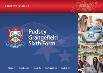 Pudsey Grangefield Sixth Form Prospectus 2019-20