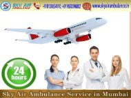 Reliable Air Ambulance in Mumbai with Unique Medical Care